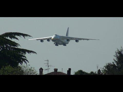 ANTONOV AN-124 ADB LANDING BOLOGNA INT.AIRPORT 12/04/2017
