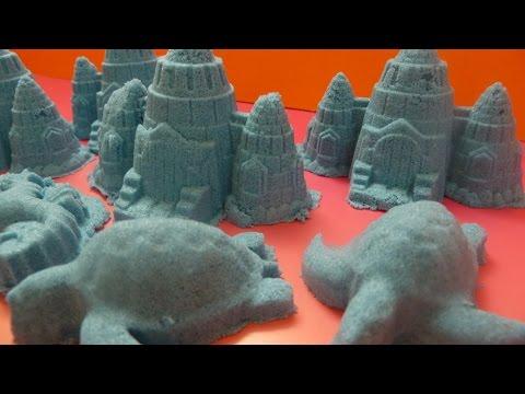"""Xây Lâu Đài Cát Màu Xanh Bằng Cát  """"động lực""""Kenetic Sand Castle Blue Castle"""