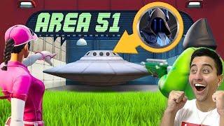 I found the NEW secret location of Area 51 at Fortnite... (Season 10)