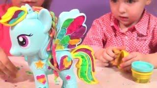 Май Литл Пони Рейнбоу Дэш и Пластилин Плей До | Play Doh Rainbow Dash My Little Pony | mlp | review