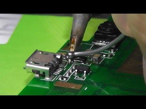 Переделка под зарядку от MicroUSB разъёма. Планшет DNS AirTab M74