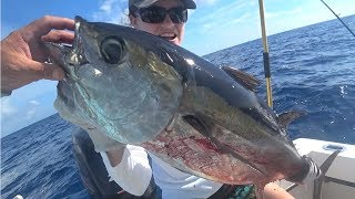 MONSTER BLACK FIN TUNA! {CATCH CLEAN COOK} DEER MEAT FOR DINNER