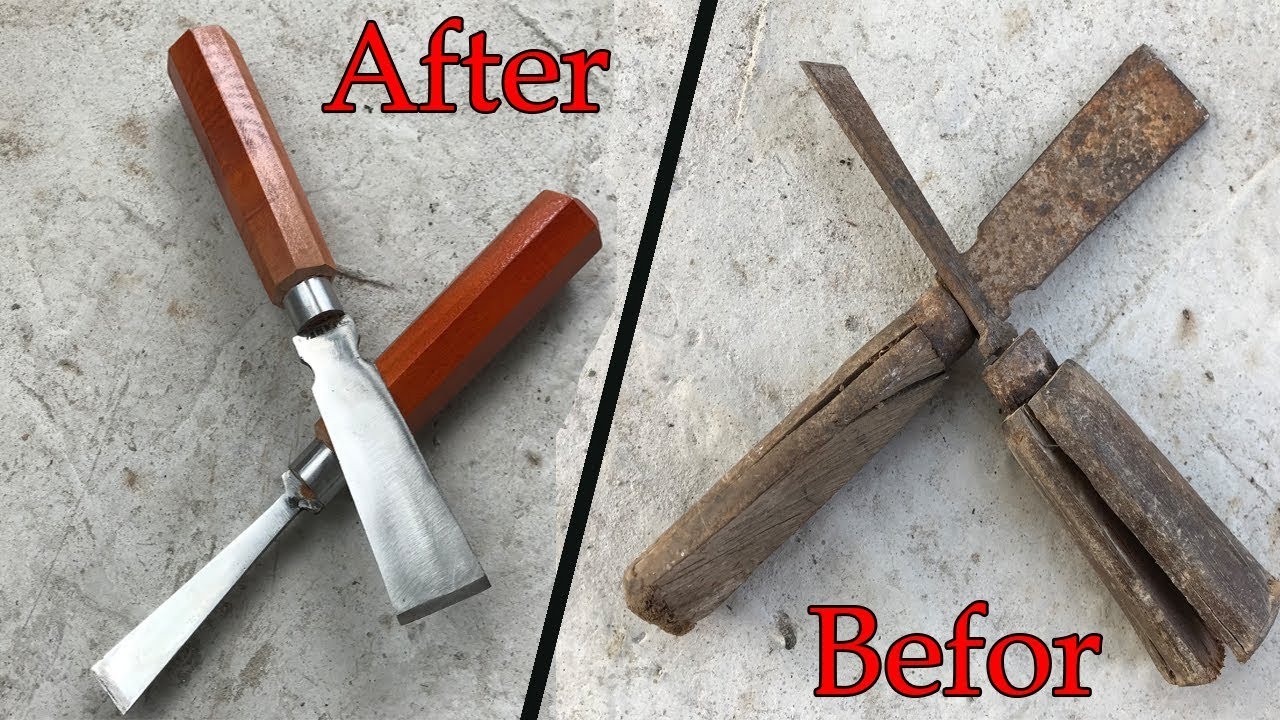 Restoration Chisel Wood Antique Rusty - Restoring Tool Steel Chisel Woodworking
