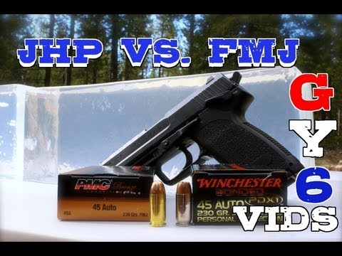 Hollow Point vs. FMJ