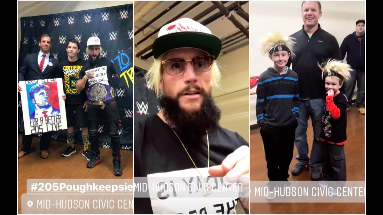 enzo amore and drew gulak meeting fans before raw 25