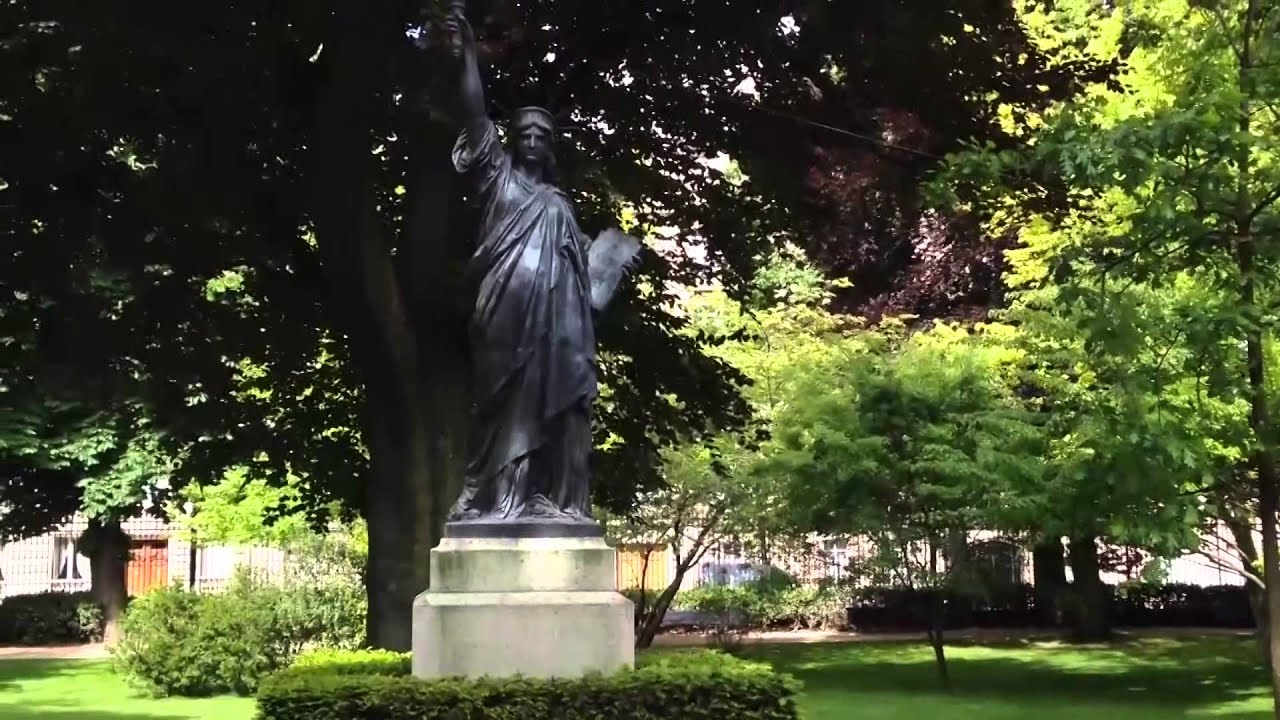 Statue Of Liberty In The Luxembourg Gardens Long Youtube