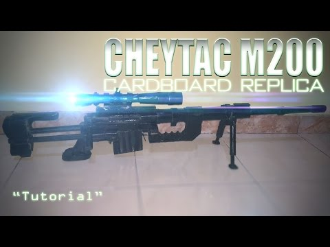 Homemade Cardboard CheyTac M200 Intervention Tutorial