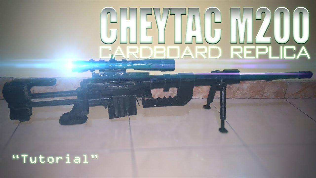 Homemade Cardboard CheyTac M200 Intervention Tutorial by Watcher Udin