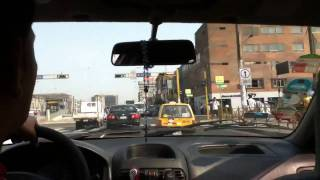Taxi ride in Lima Peru
