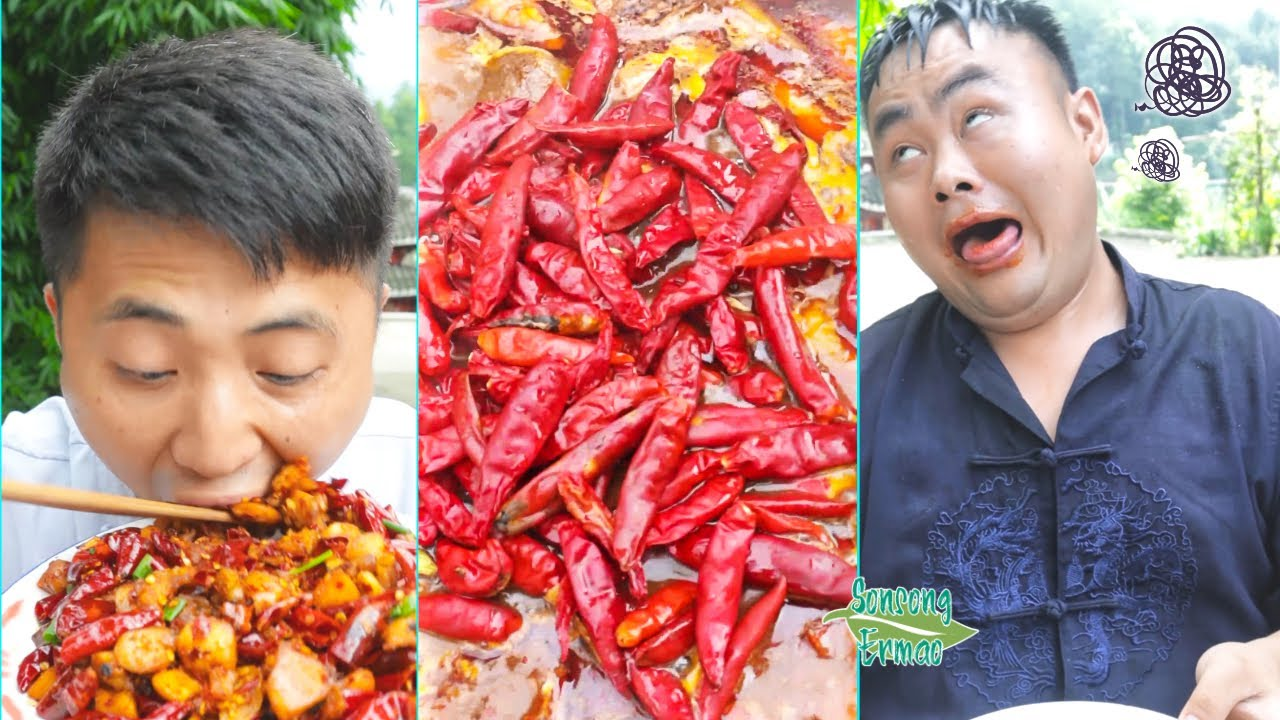 King of Chili Competition! || Try not to laugh🤣 || Funny Videos Compilation || Songsong and Ermao