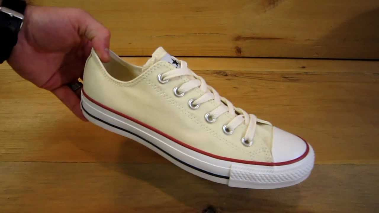Converse All Stars Chuck Taylor Ox Unbleached White - YouTube 027fdee8e