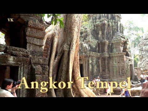 Angkor Temples Tempel , Kambodscha. Doku mit Sehenswürdigkeiten 6/13