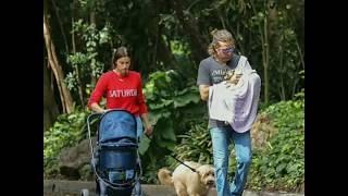 Bradley Cooper end Irina Shayk with daughter / Брэдли Купер и Ирина Шейк гуляют с дочкой