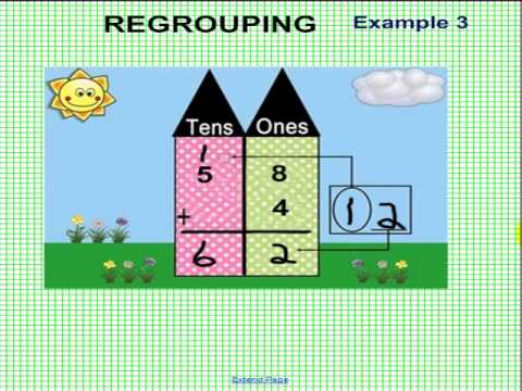 ADDITION  REGROUPING  1D20