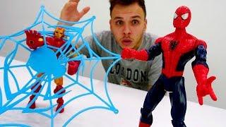Супергерои - Железный Человек или Спайдермен?! - Кто самый крутой?