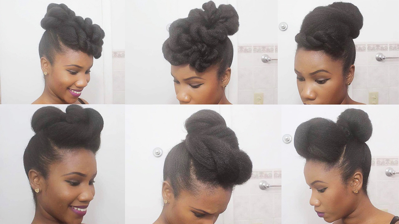 4 Ways to Spice Up a Simple Top Knot Bun on Natural Hair - YouTube