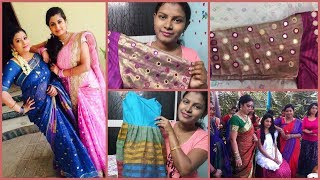 #DIML#Mirror Work Designer Blouse/MAA TV Ashta  Chamma Serial Actress is My Subscriber/1st I shocked