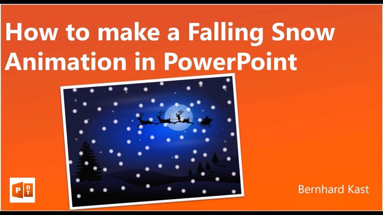How to make a snowfall animation in powerpoint youtube toneelgroepblik Gallery