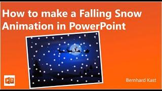 Comment faire une chute de Neige de l'Animation dans PowerPoint