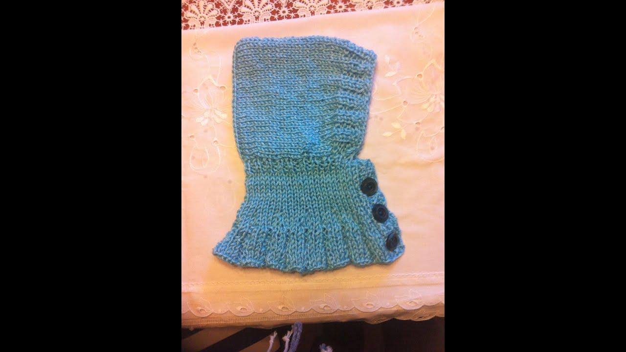 kinderm tze teil 2 babym tze mit kragen stricken baby hat with knit collar tutorial youtube. Black Bedroom Furniture Sets. Home Design Ideas