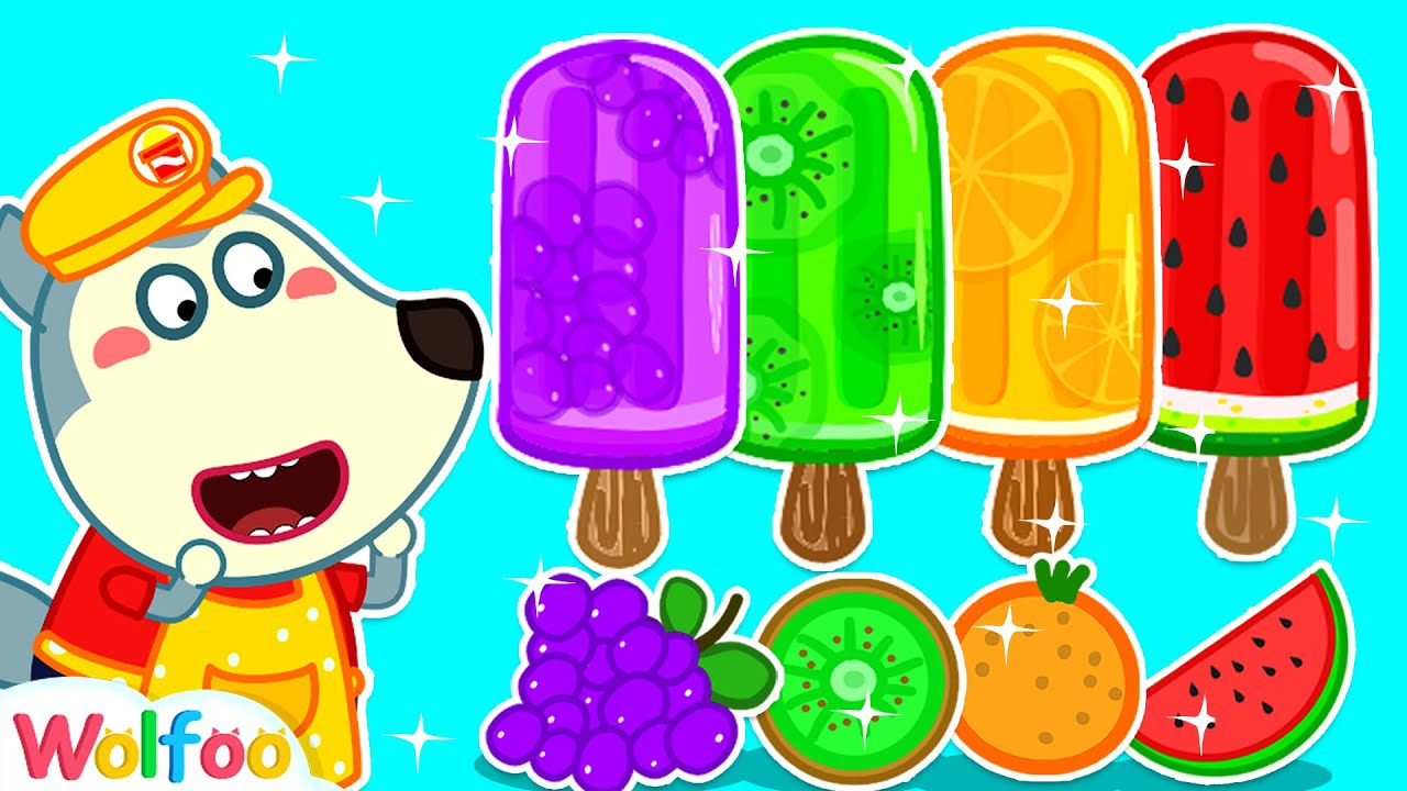 Wolfoo Helps Friend Make Fruit Ice Cream - The More We Get Together | Wolfoo Family Kids Cartoon