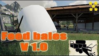 """[""""Feedbales V 1.0"""", """"FS 19 Mod Vorstellung Farming Simulator : Feed bales"""", """"Feed bales""""]"""