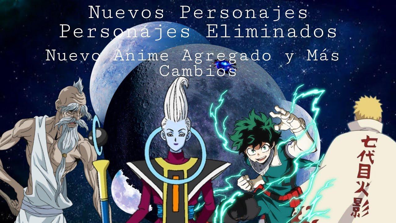 Fusión de Mundos del Anime - Cambios