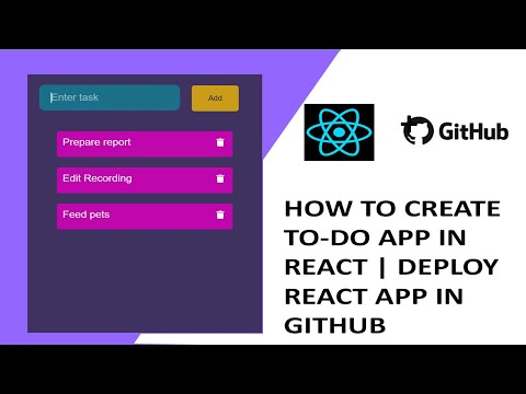 To Do App in React (Adding, Editing and Deleting items) | Deploy in Github for freeTutorial thumbnail