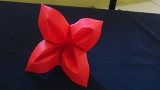 Cara Membuat Origami Bunga Terompet | Origami Bunga dan Tanaman