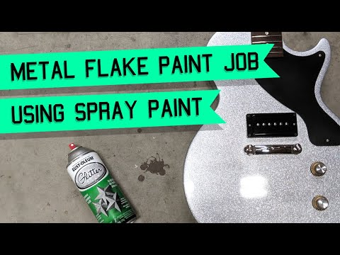 How To: Easiest and Cheapest Way to Metal Glitter Flake a Guitar or Anything Step by Step