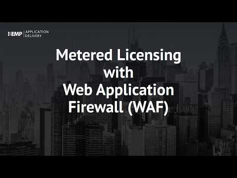 Metered Licensing with Web Application Firewall (WAF)