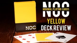 Deck Review - Noc Playing Cards Yellow Miniml Playing Cards
