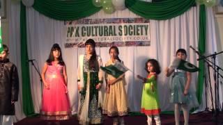 pak cultural society pakistan independence day 2015 ae quaid e azam tera ehsan