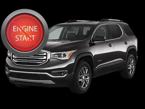 GMC Acadia: Open and start newer push-button start models with a dead key fob battery.