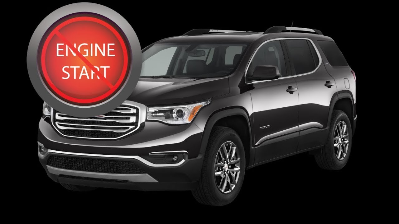 Gmc Acadia Open And Start Newer Push Button Models With A Removing Buick Enclave Battery Dead Key Fob