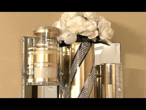 Dollar Tree DIY || Floating Glass Cylinder Vases