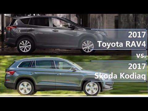2017 Toyota RAV4 vs 2017 Skoda Kodiaq (technical comparison)