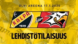 Lehdistötilaisuus, KalPa - Sport, 17.1.2020