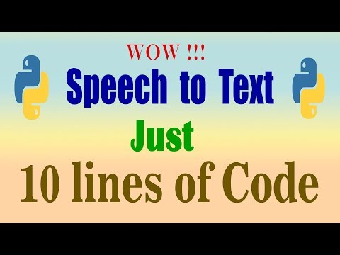 speech to text using python I Auto transcription | Speech Recognition