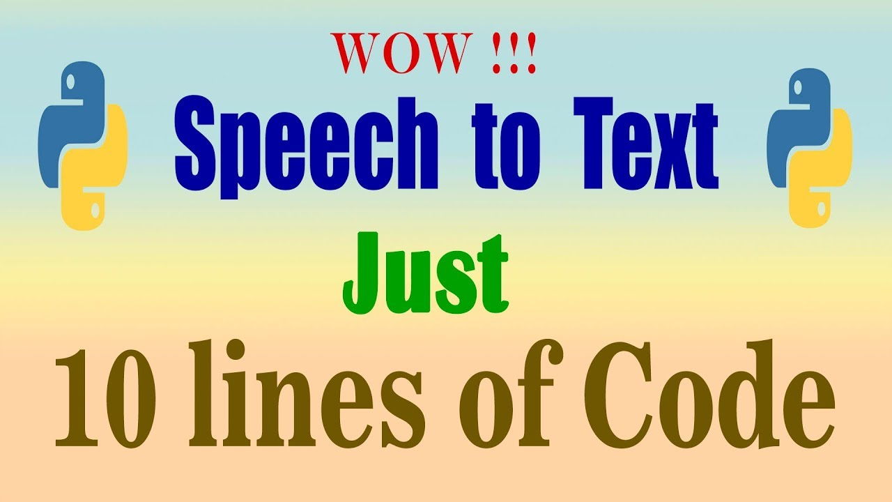 speech to text using python I Auto transcription | Speech Recognition