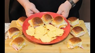 Hot Ham and Cheese Sliders! (Baked at 350 Degrees) YouTube Videos