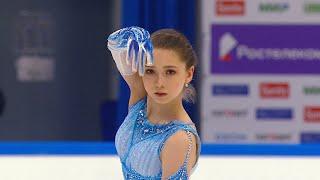 Камила Валиева Короткая программа Женщины Финал Кубка России по фигурному катанию 2020 21