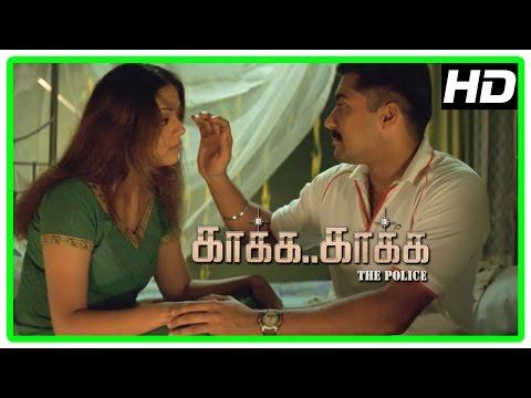 Kaaka Kaaka Tamil movie   Suriya - Jyothika romantic scene   Gautham Menon   Harris Jayaraj