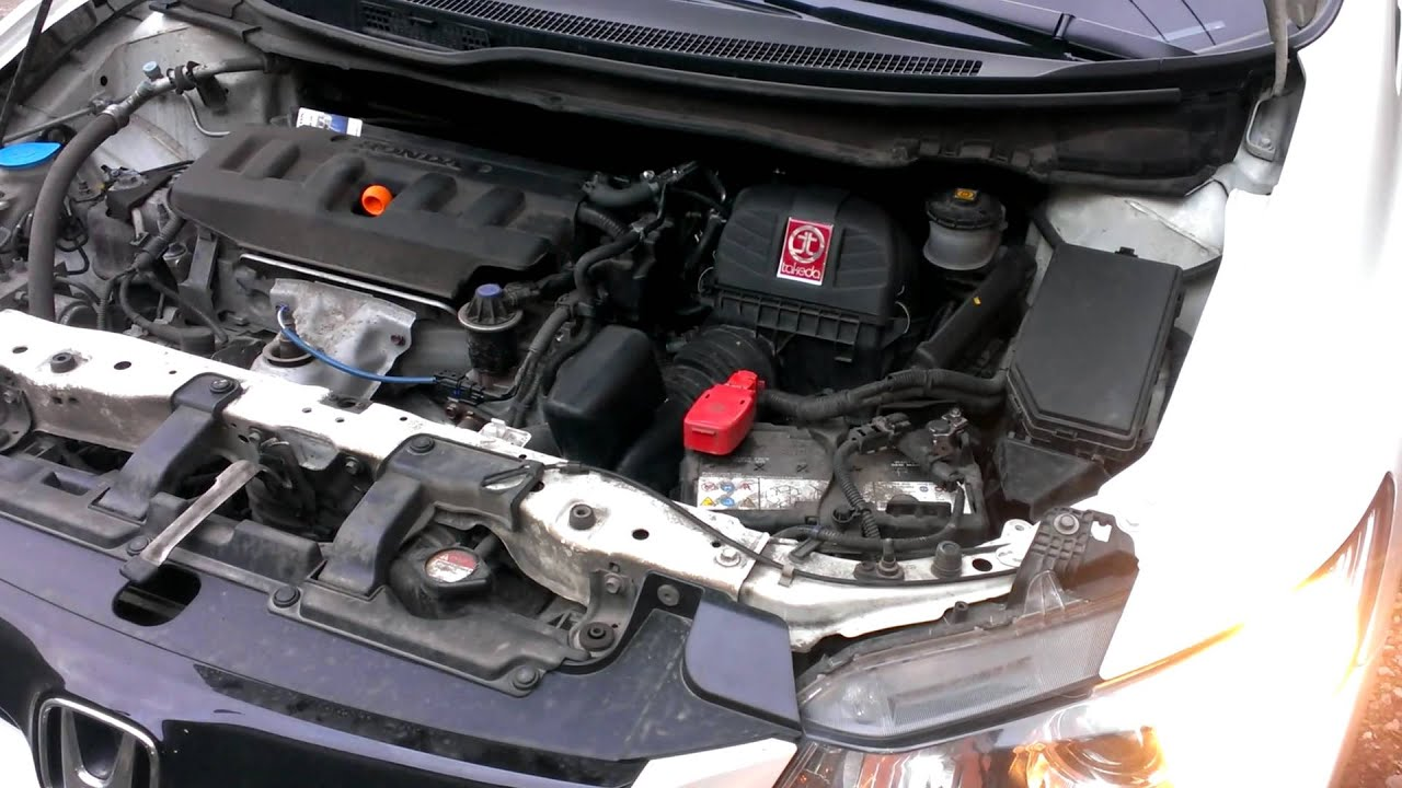 Takeda Cold Air Intake Honda civic IX gen 2012 1.8L R18Z1 from Marussia - YouTube