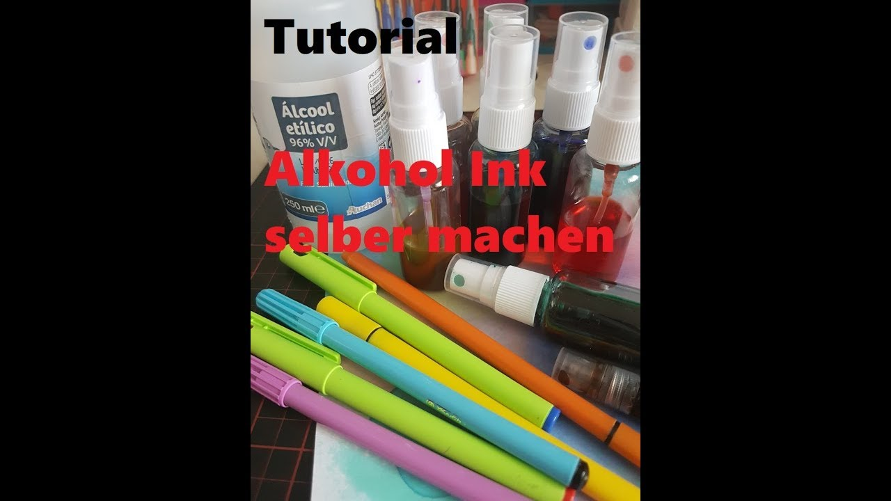 tutorial alkohol ink selber machen youtube. Black Bedroom Furniture Sets. Home Design Ideas
