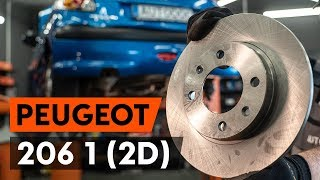 Como substituir discos de travão traseira noPEUGEOT 206 1 (2D) [TUTORIAL AUTODOC]