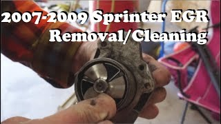 2007-2009 Sprinter EGR Removal and Cleaning