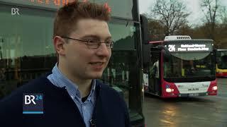 Würzburger Busfahrer mit Humor