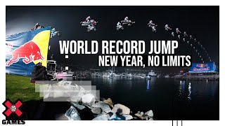 new year no limits world record jump slow motion espn x games