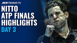 Nadal v Thiem BLOCKBUSTER; Tsitsipas v Rublev | Nitto ATP Finals 2020 Highlights Day 3
